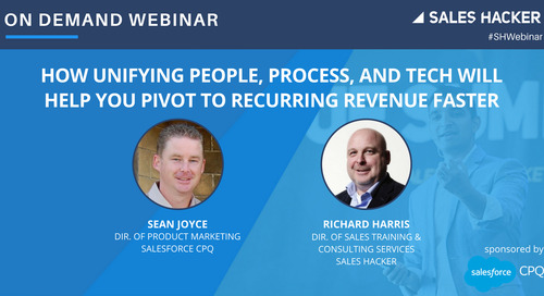 How Unifying People, Process, and Tech Will Help You Pivot to Recurring Revenue Faster