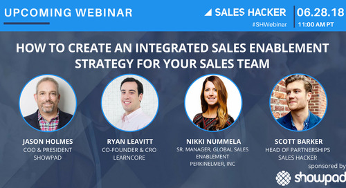 How to Create an Integrated Sales Enablement Strategy for Your Sales Team