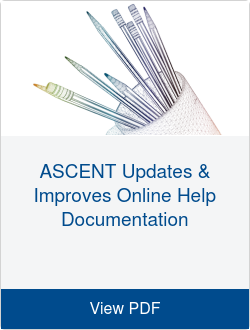 ASCENT Updates & Improves Online Help Documentation