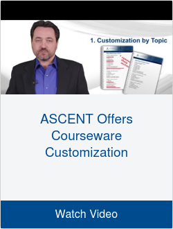 ASCENT Offers Courseware Customization