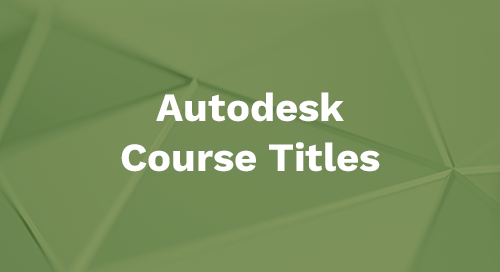 Autodesk 2020 Course Titles