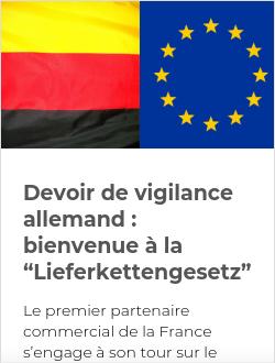 """Devoir de vigilance allemand : bienvenue à la """"Lieferkettengesetz"""""""