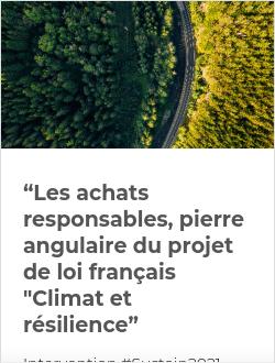 """""""Les achats responsables, pierre angulaire du projet de loi français """"Climat et résilience"""""""
