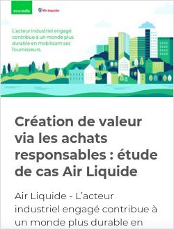 Création de valeur via les achats responsables : étude de cas Air Liquide