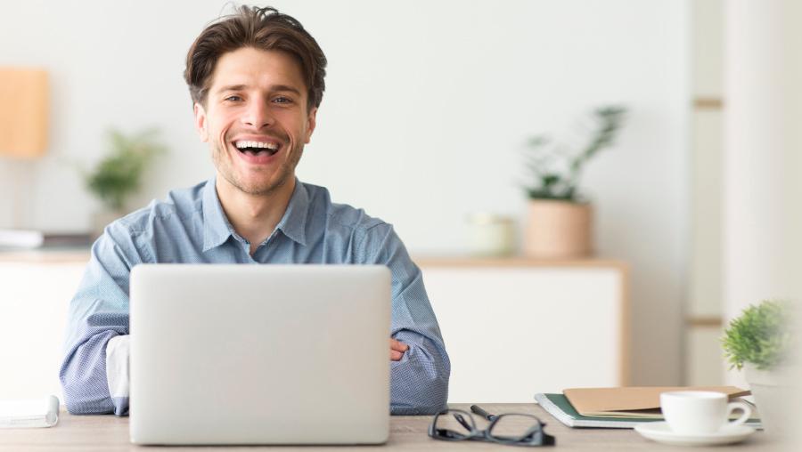 Tech Bro at his Computer