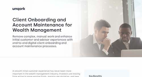 Solution Brief: Client Onboarding & Account Maintenance for Wealth Management