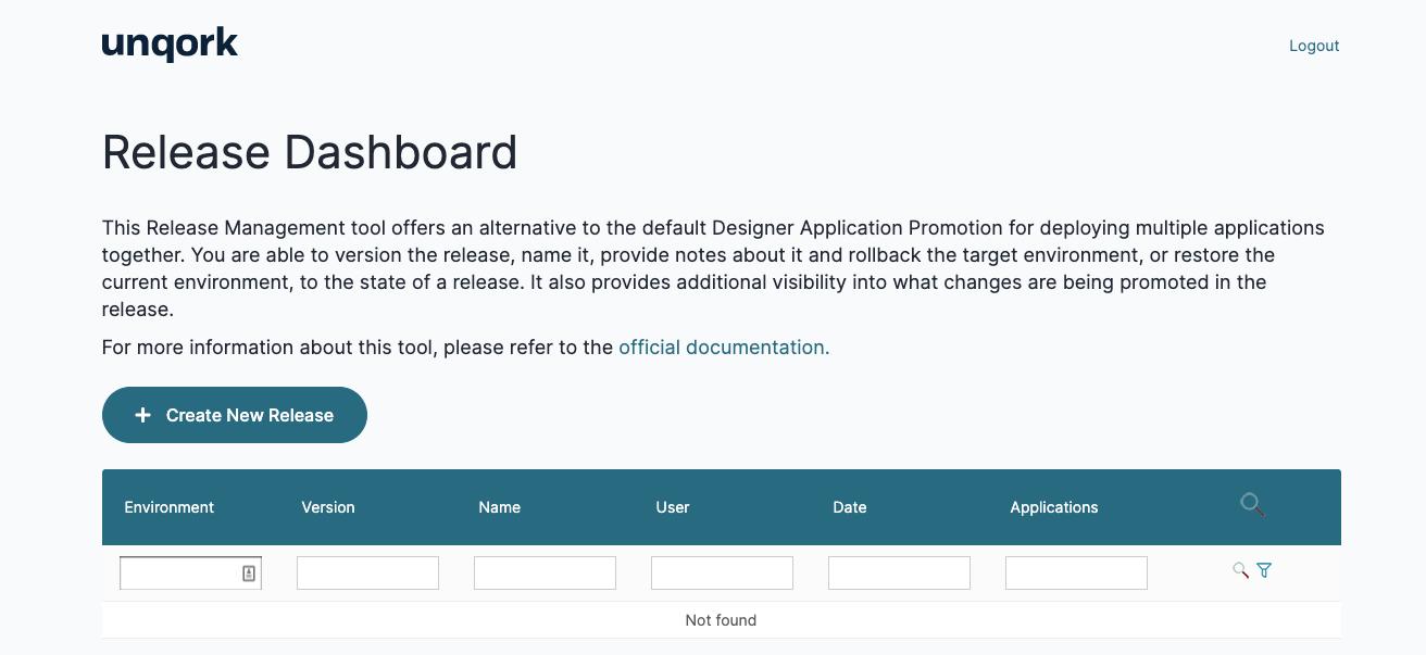 Release Management Dashboard