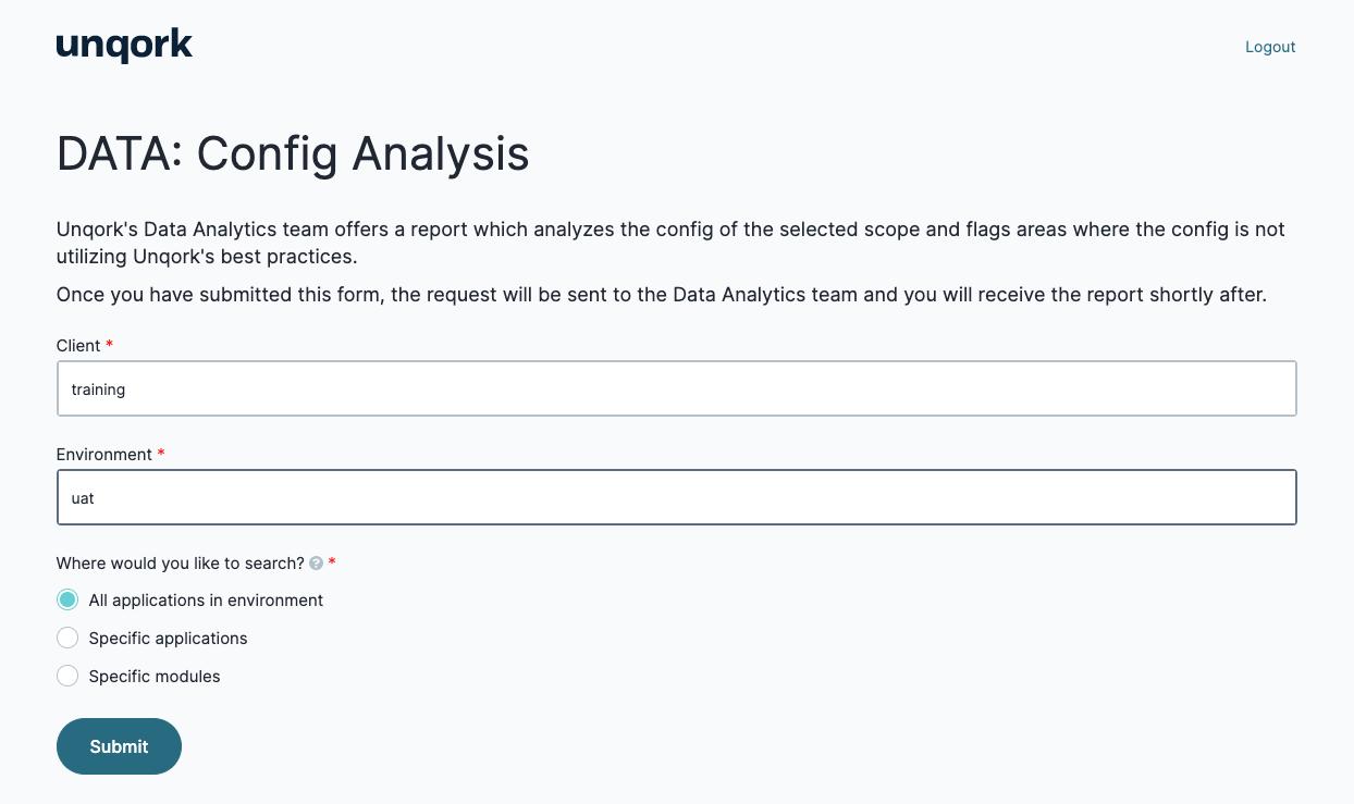 Config Analysis Tool