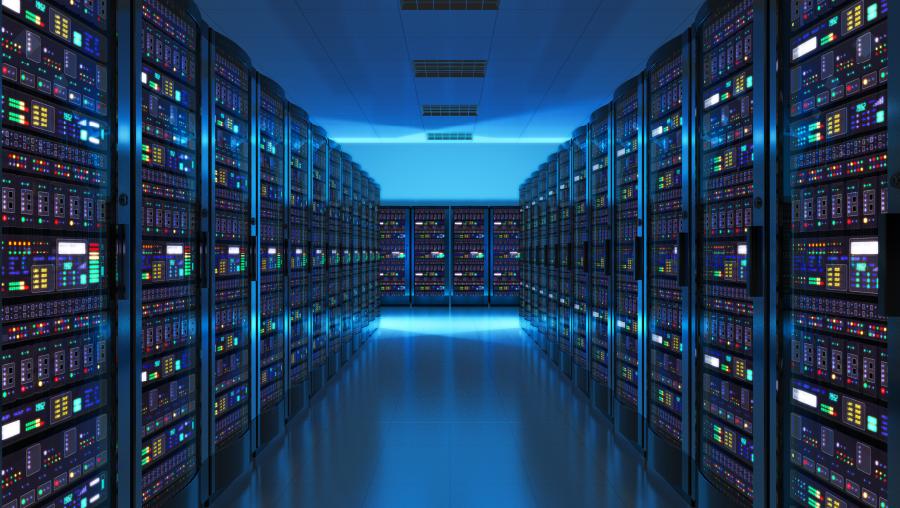 Interior of server room