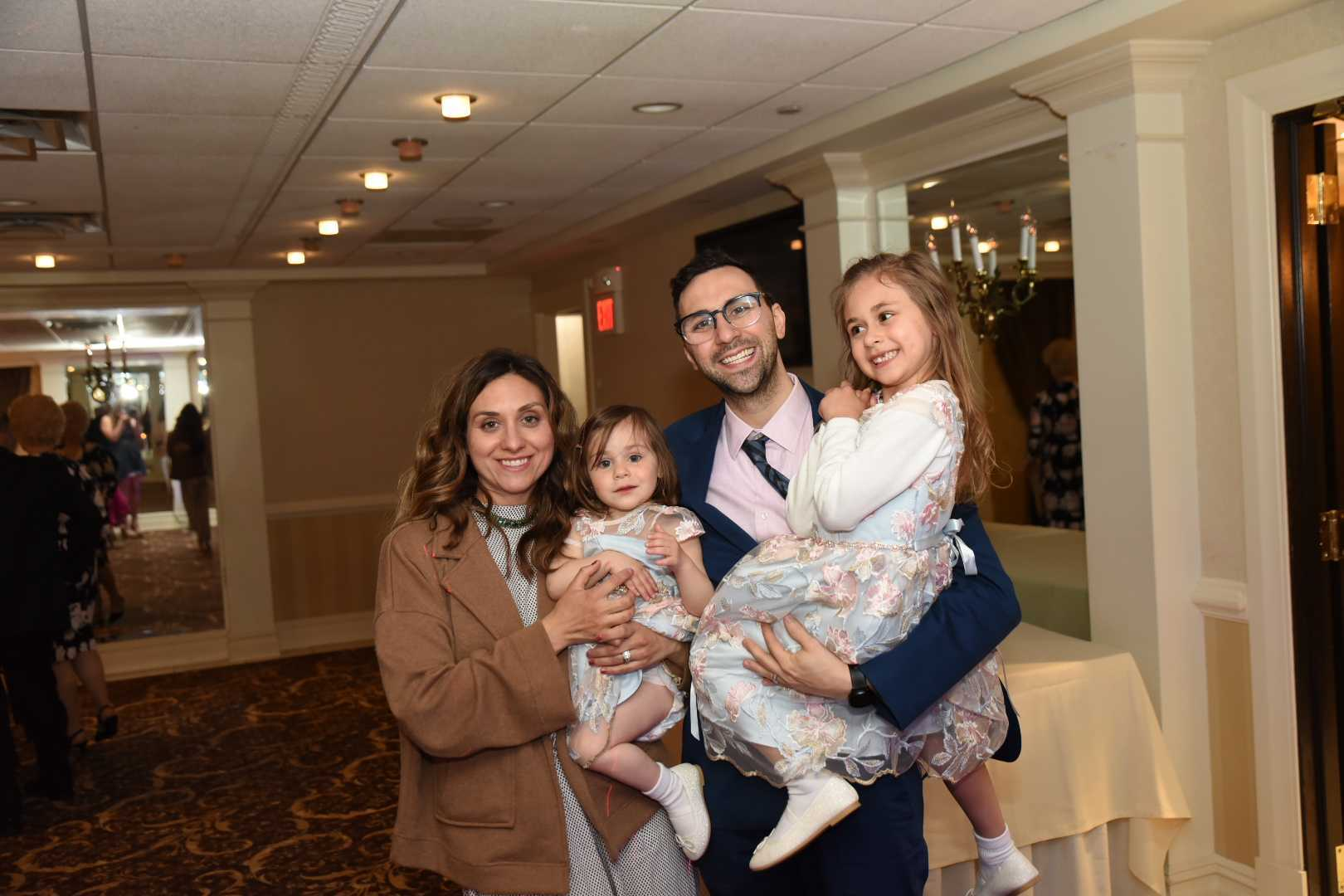 Pasquale with his wife and two daughters