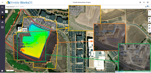 Trimble WorksManager drone imagery