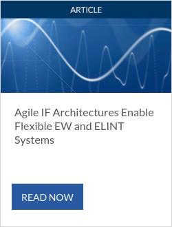 Agile如果架构启用灵活的EW和elint系统