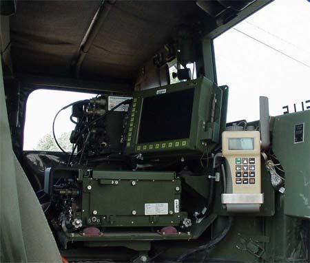 A cramped Humvee (the JLTV predecessor)
