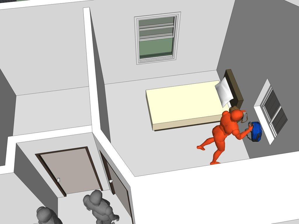 This sequence shows how a suspect could have hidden incriminating evidence in a drug case.