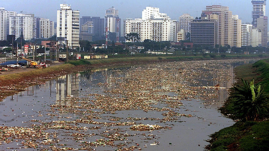 Unsustainable development river pollution