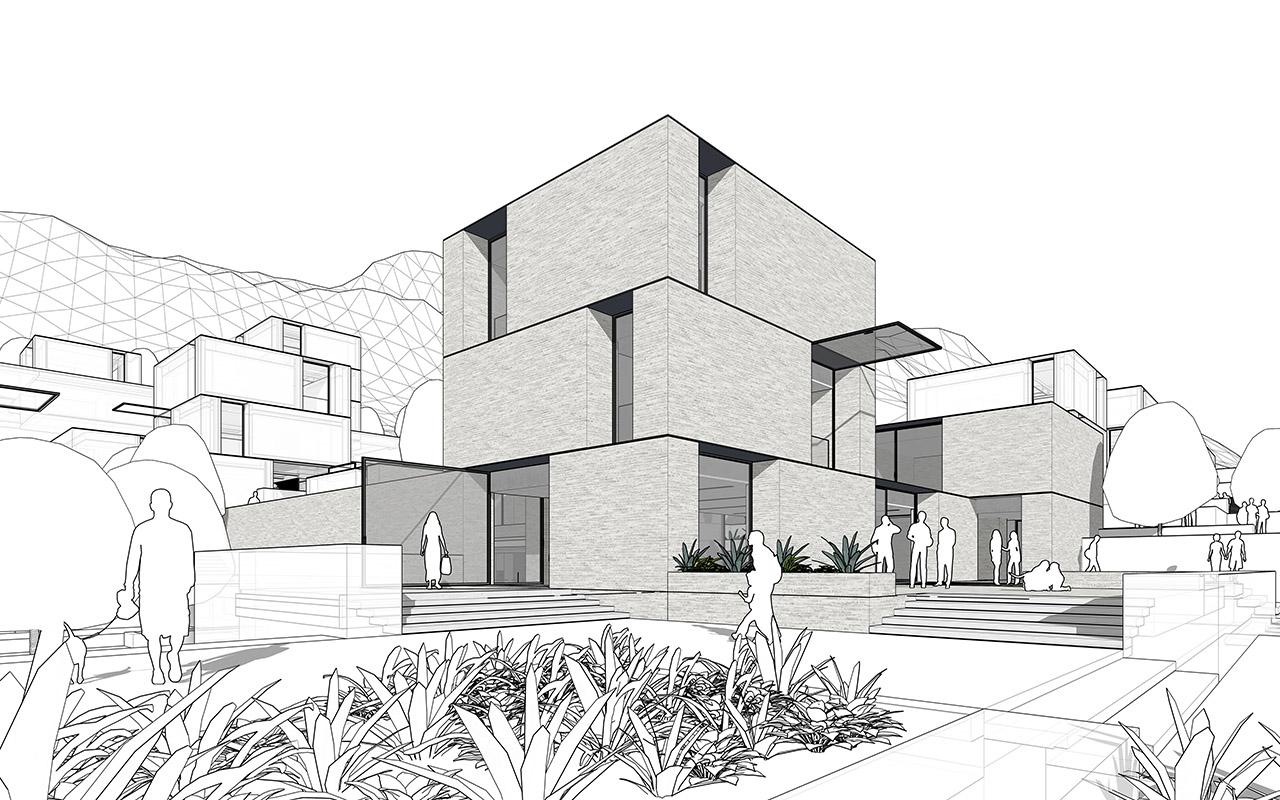 From sketch to renderings, these images showcase the Petersen House design used on the SketchUp website. Scroll through to see them all.