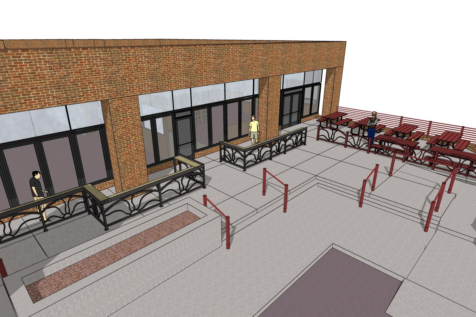 The Perks of being a licensed Architect: Designing a new patio for your favorite pub in Boulder, the Southern Sun!