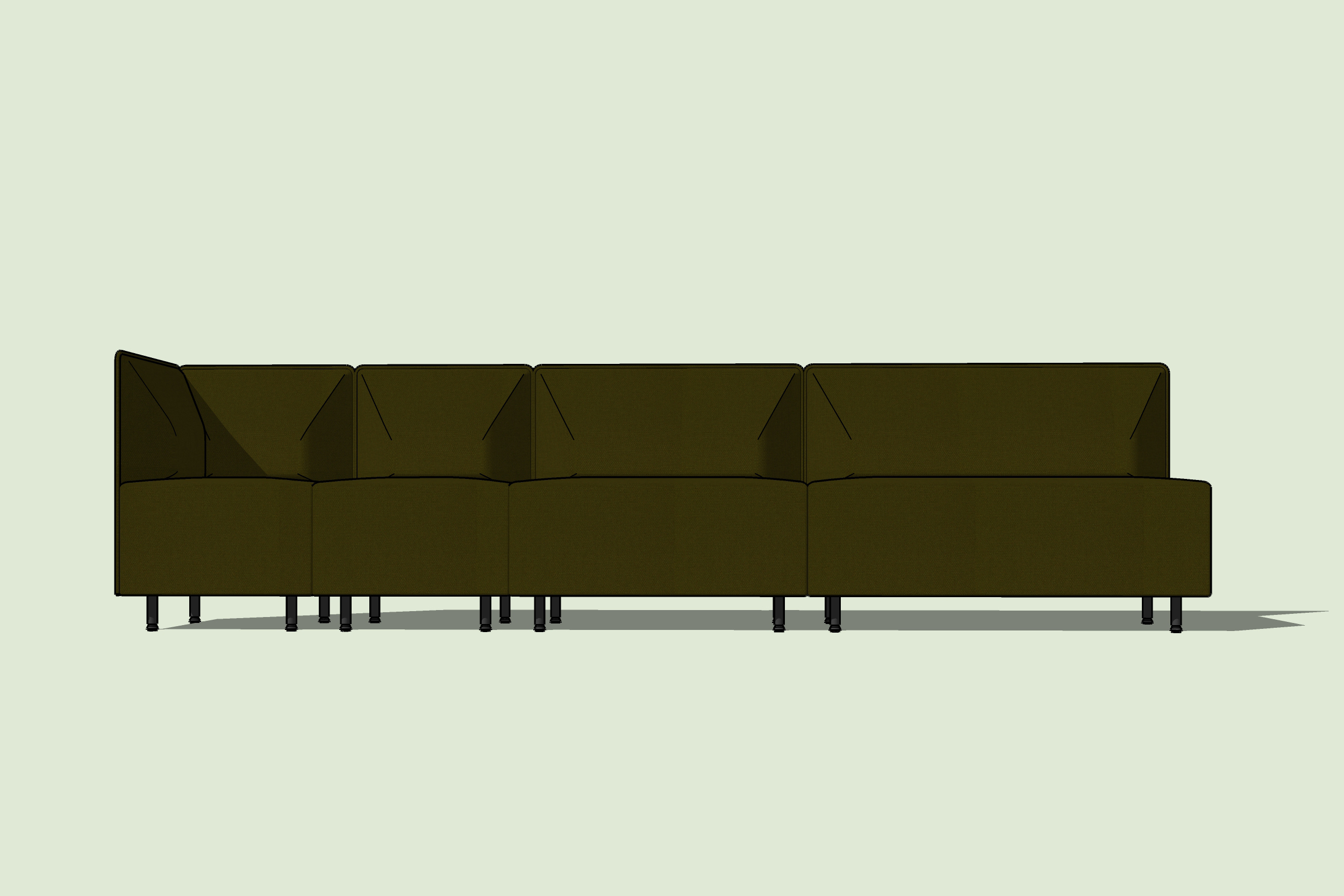 Bank Sofa with metal legs