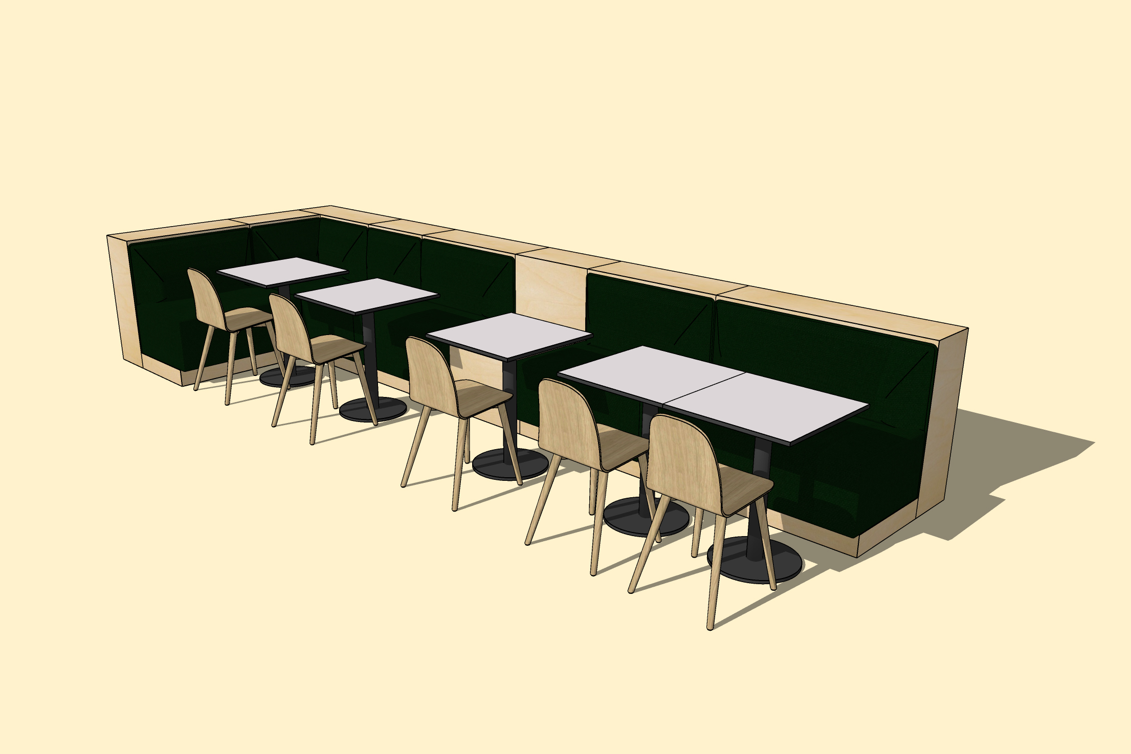 Bank seating system