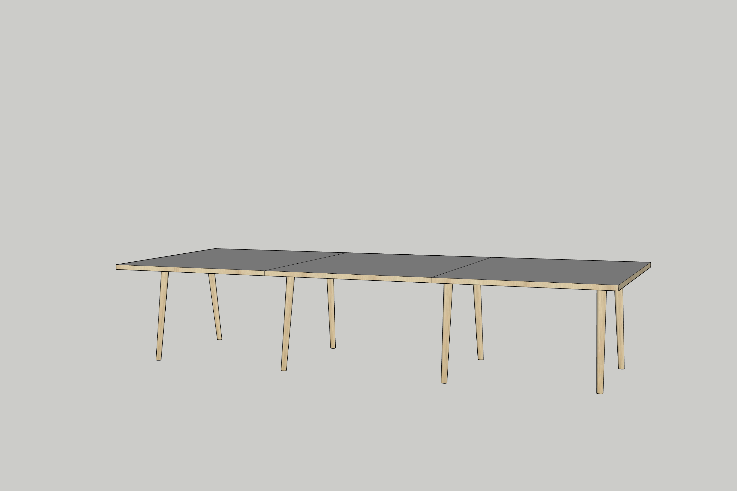 Forum Table modeled in SketchUp