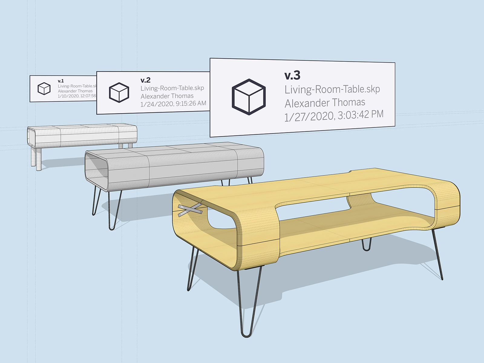 Revision History in SketchUp for Web