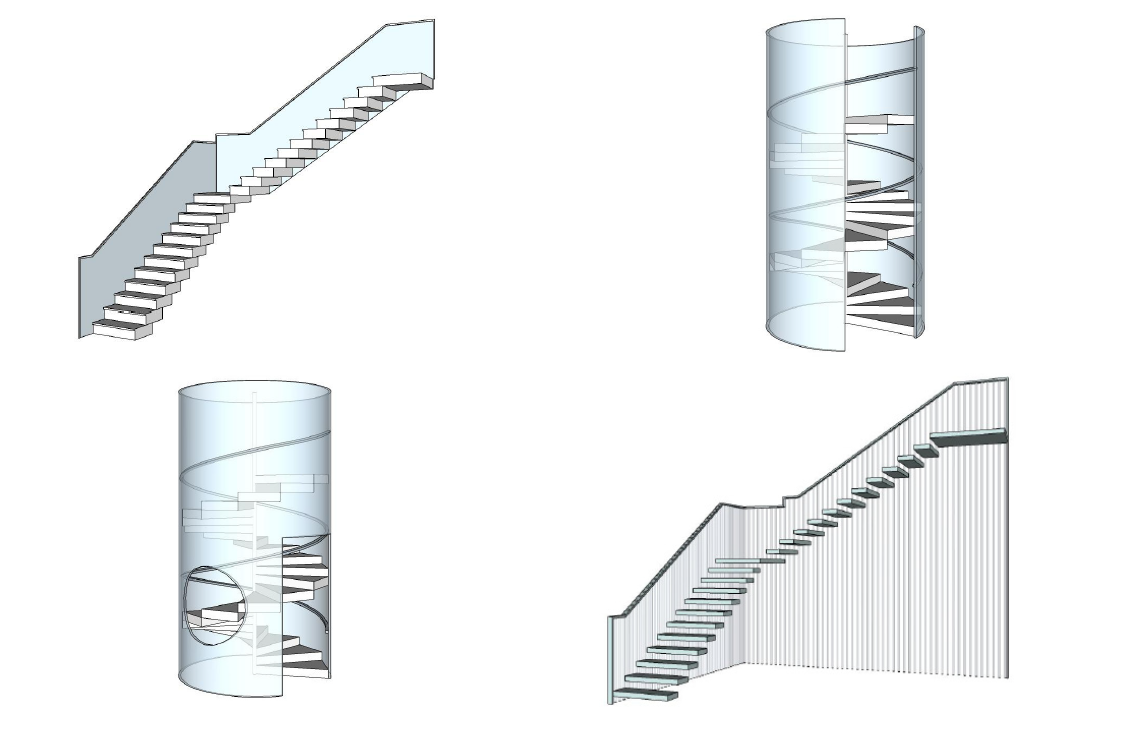 Staircase 3D modeling