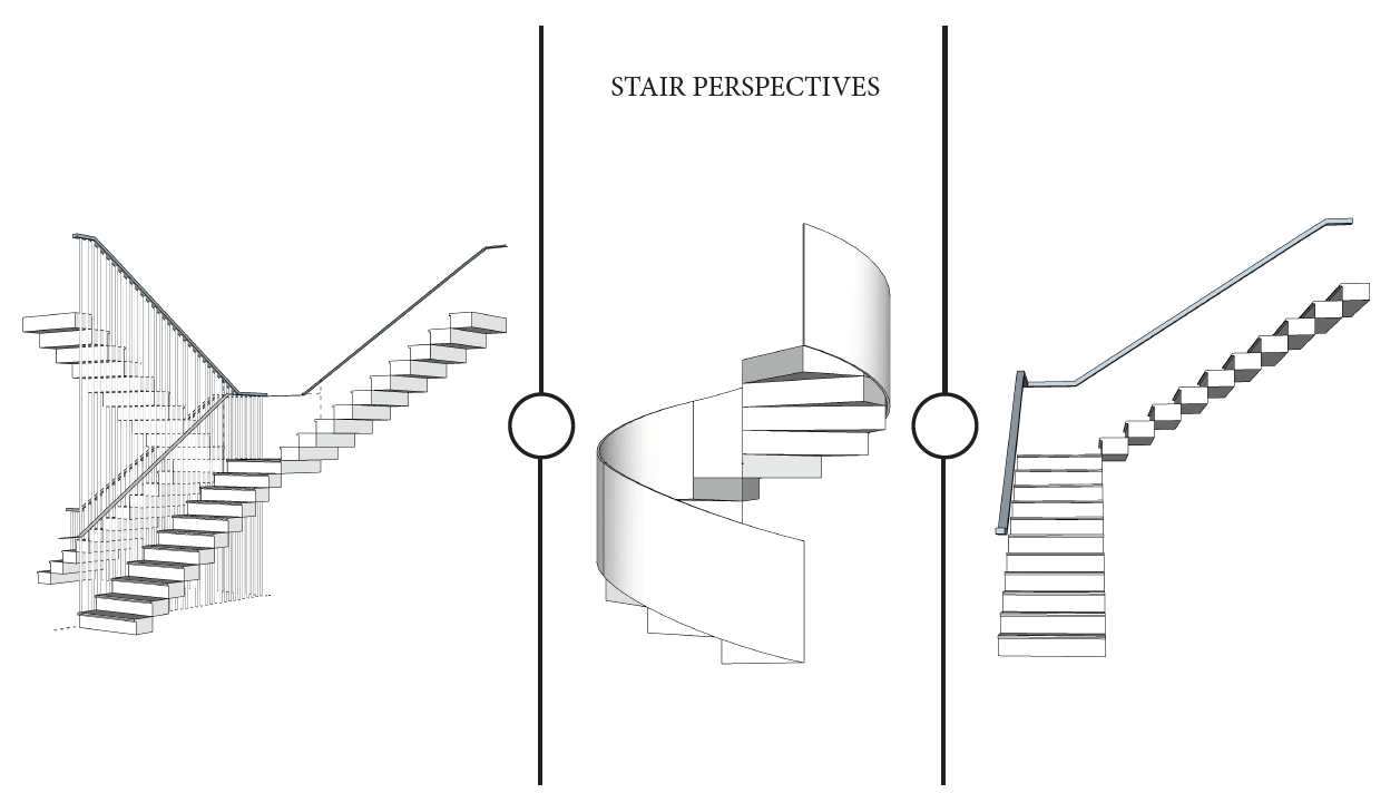 Staircase perspectives in SketchUp