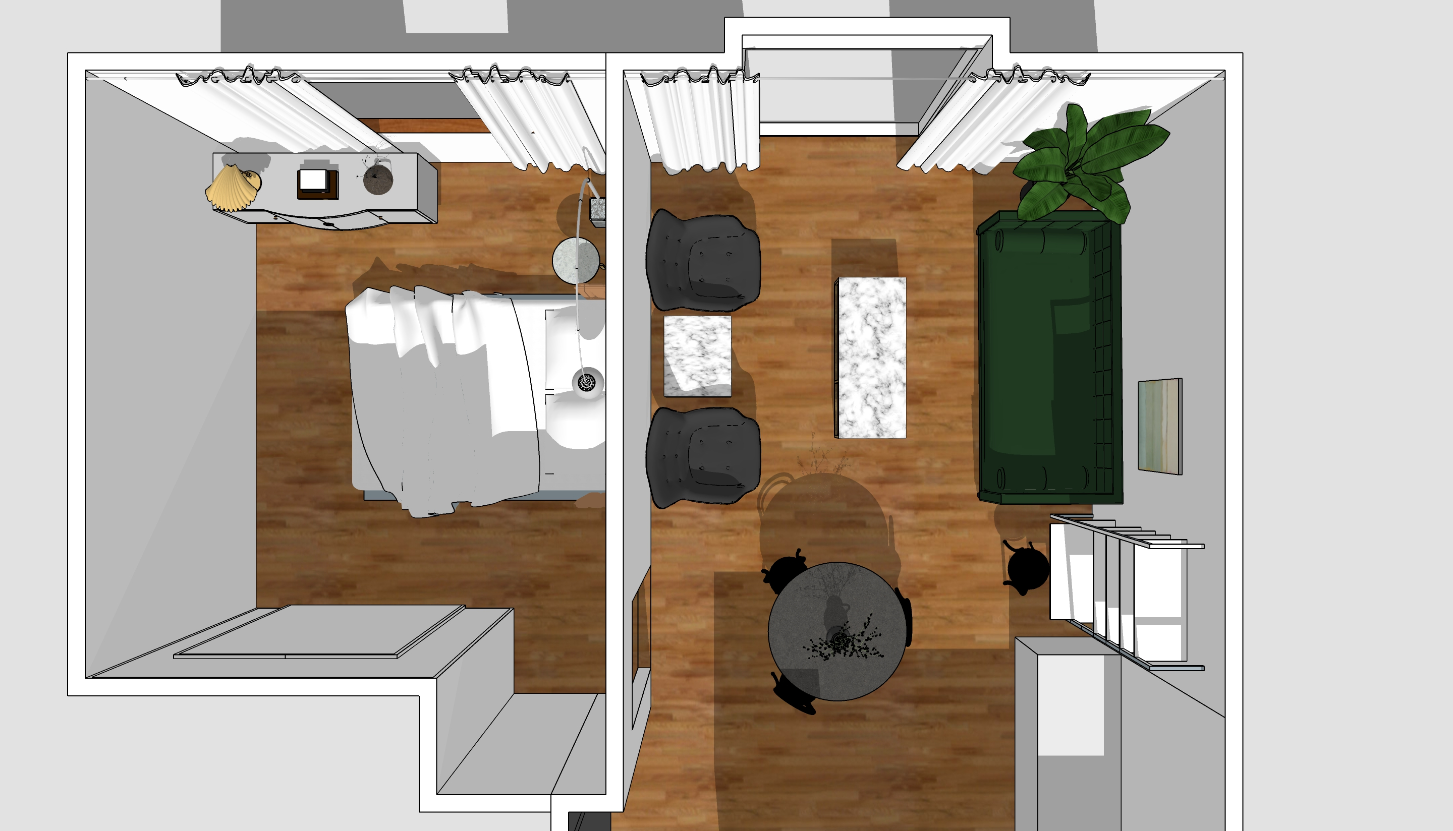 Interior design with SketchUp