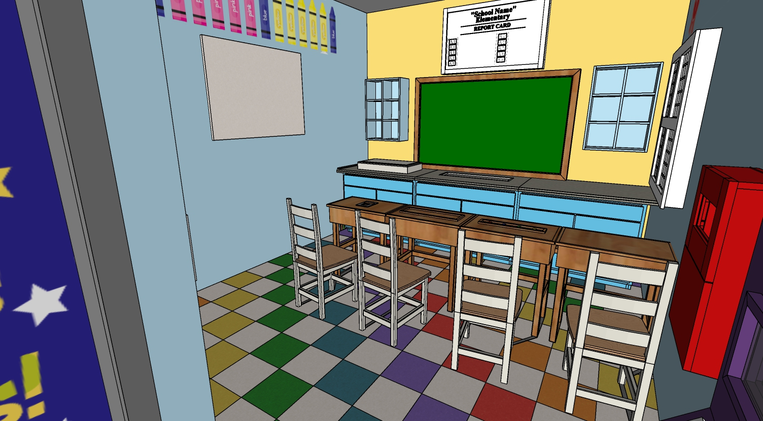 SketchUp for building The Escape Game