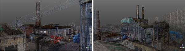 Point-cloud data of the factory