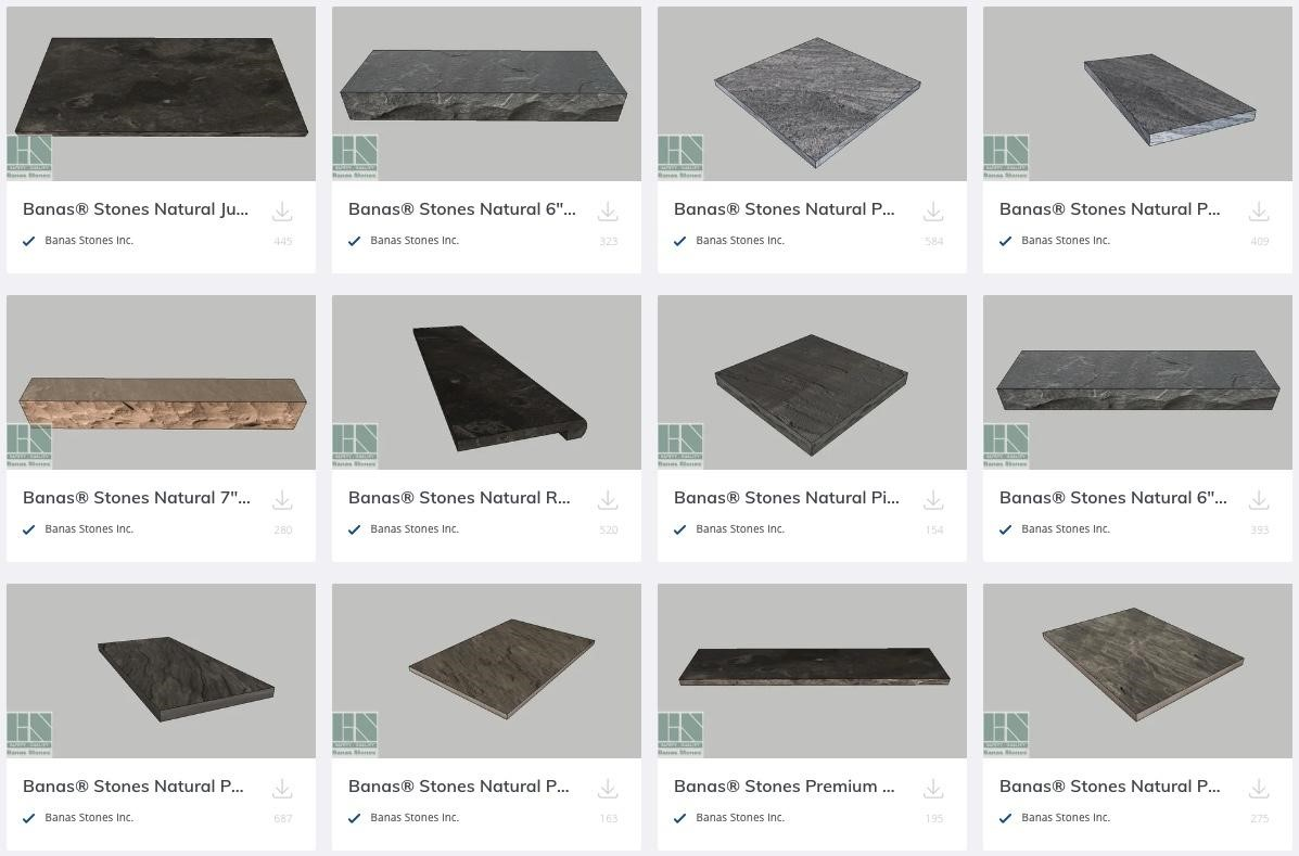 3D Warehouse Banas Product Offerings