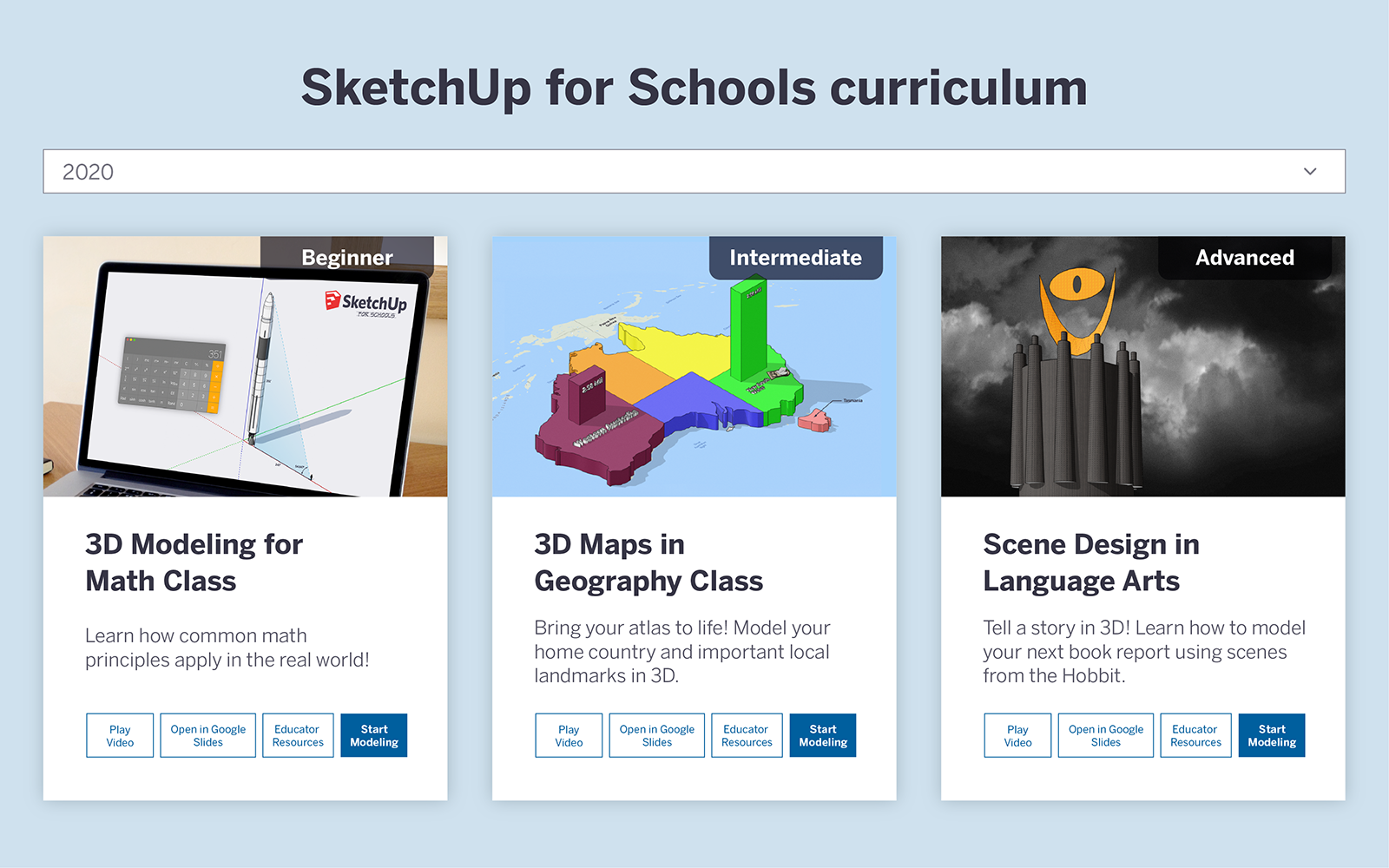 SketchUp for Schools New Curriculum 2020