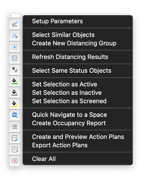 A screenshot of the toolbar, showcasing the extension's functionalities.