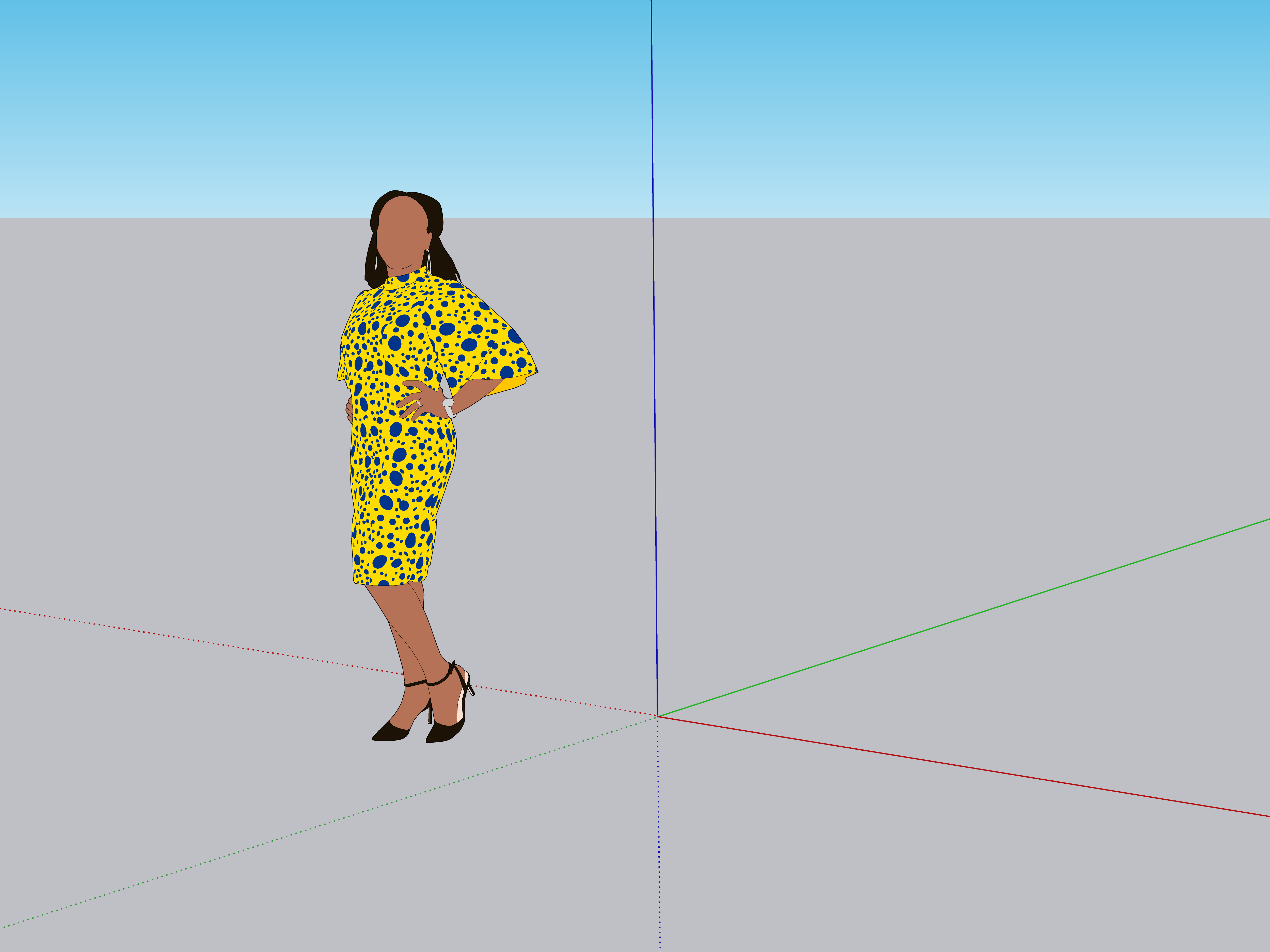 SketchUp's new scale figure