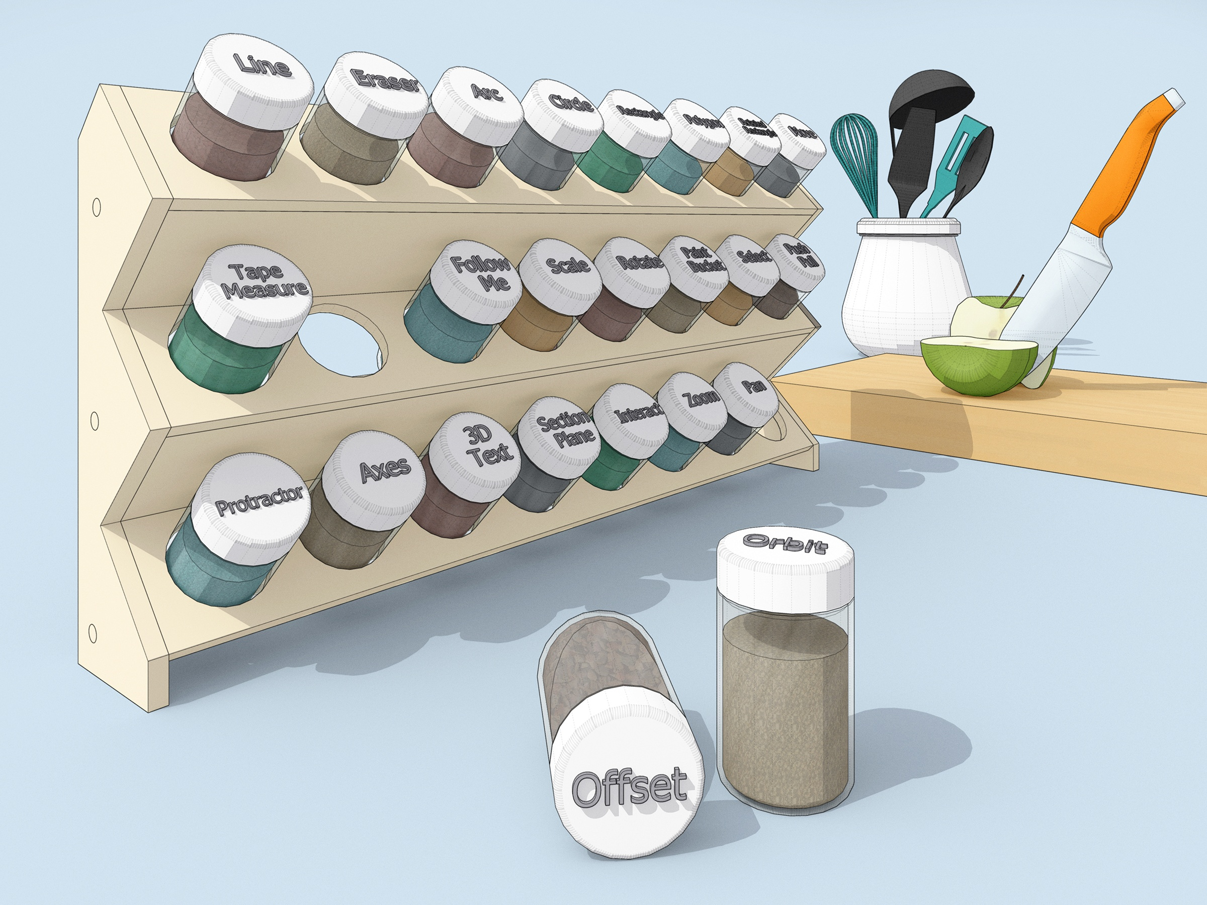 SketchUp Spice Rack of Tools