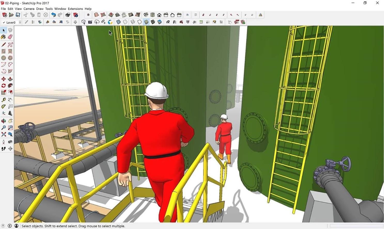 A 3D model of a biogas plant