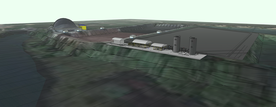 The first biogas plant project Mr Pom designed entirely in SketchUp.