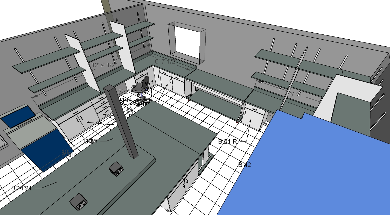 Aldevron Lab designed with SketchUp
