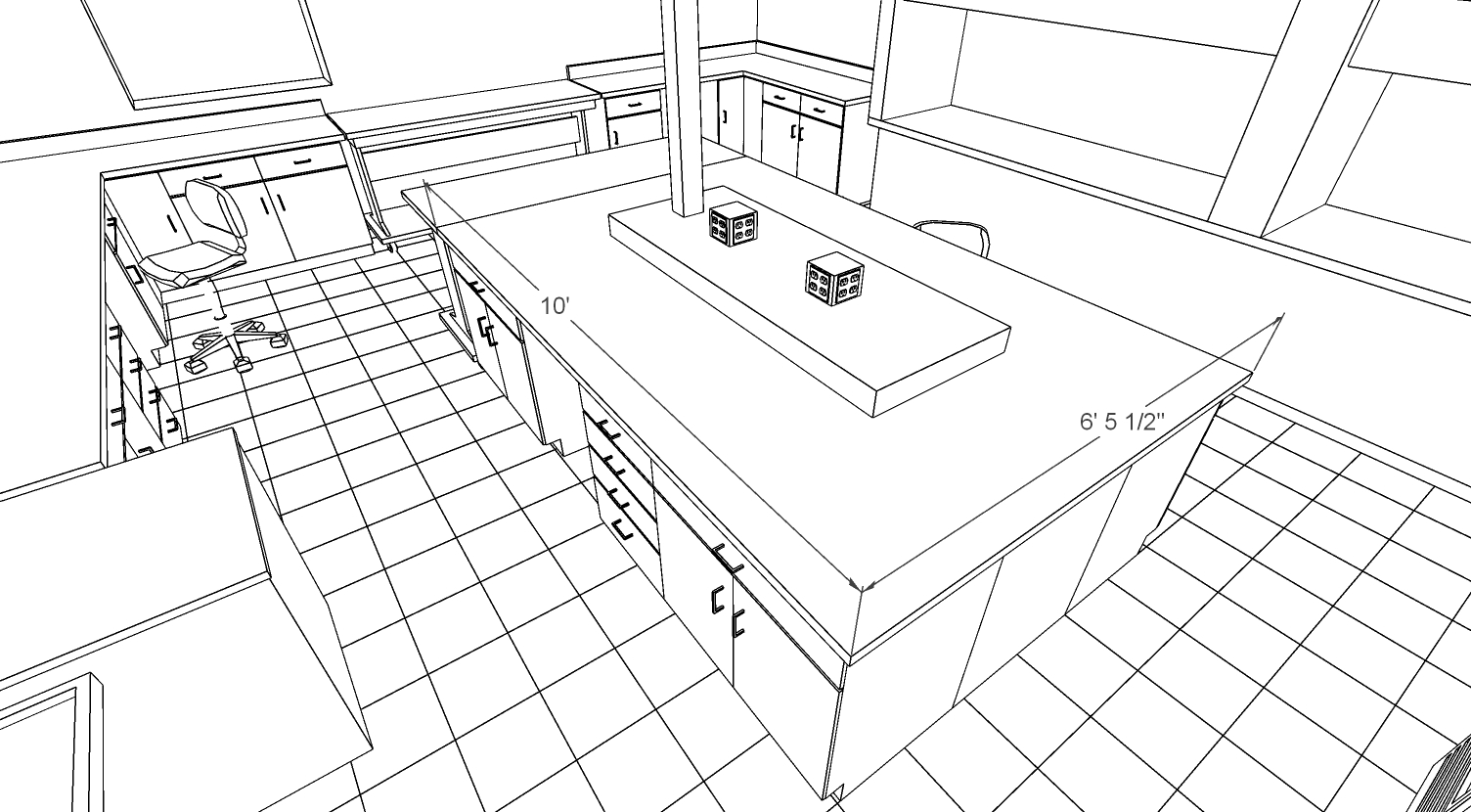 SketchUp model of lab