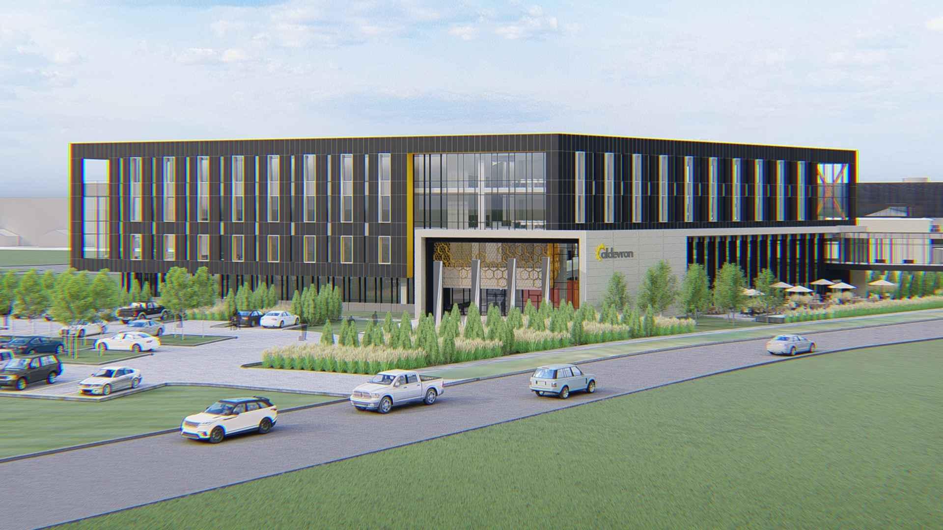 Aldevron campus designed in SketchUp