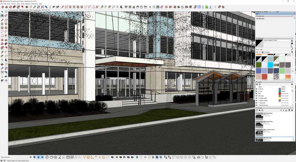 SketchUp renderings