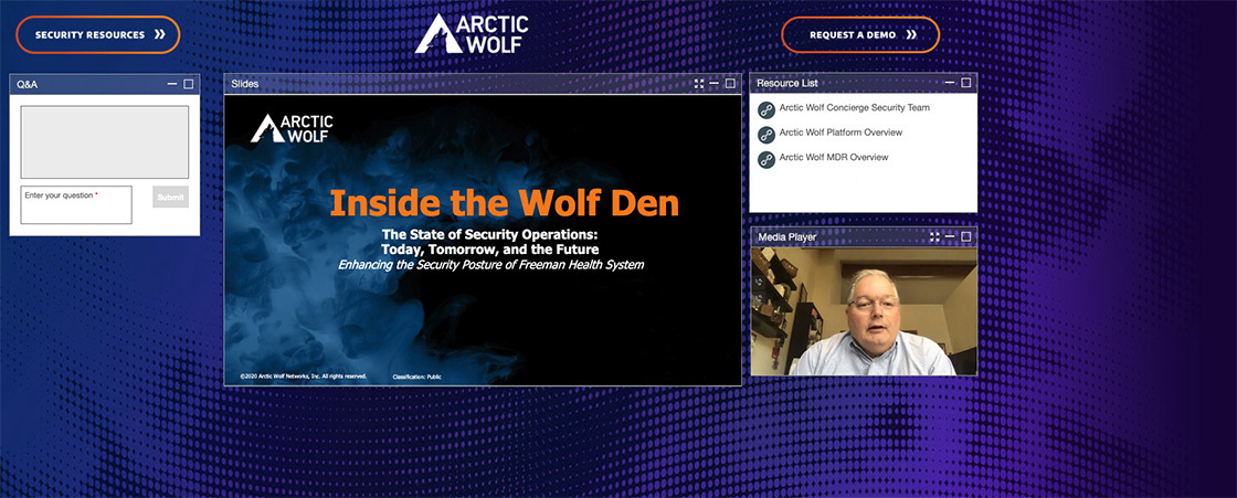 Sam McClane on the Inside the Wolf Den webinar.