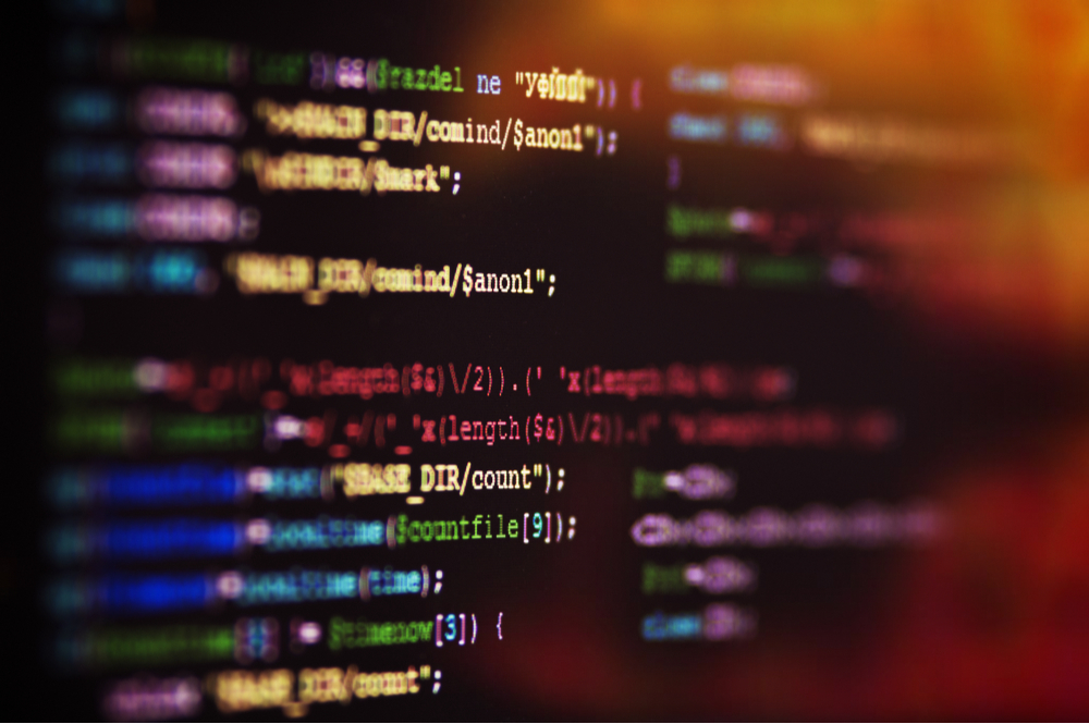 Perl Programming experienced a large cyberattack in January, see a list of coding on the screen.