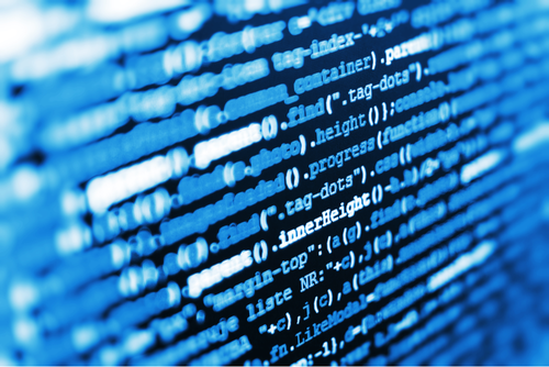 A closeup of a series of code on a computer screen.