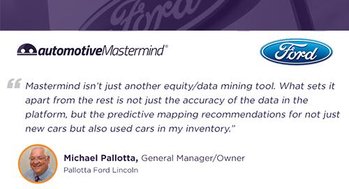 Pallotta Ford Lincoln Testimonial - Predictive Mapping