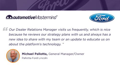 Pallotta Ford Lincoln Testimonial - Dealer Support