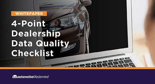 4-Point Dealership Data Quality Checklist
