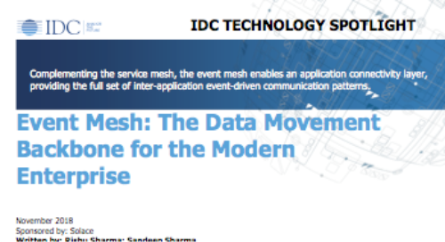 Event Mesh: The Data Movement Backbone for the Modern Enterprise