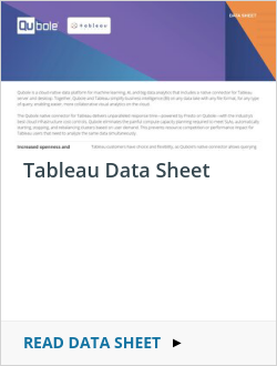 Tableau Data Sheet