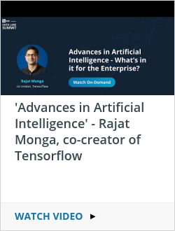 'Advances in Artificial Intelligence' - Rajat Monga, co-creator of Tensorflow